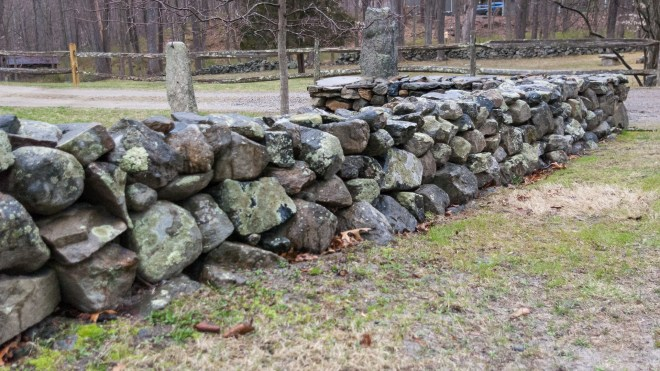 New England Stone Wall Rebuilt