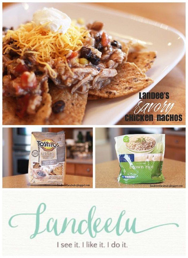 Quick Savory Chicken Nachos Recipe  - EASY and  so delicious!