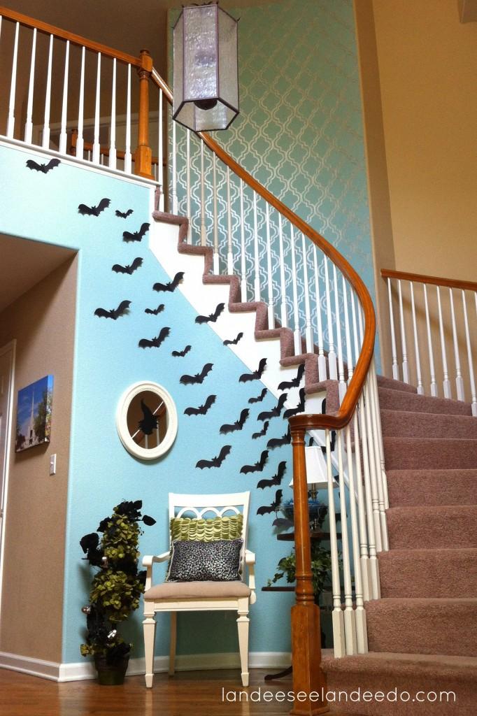 Batty Halloween Entryway
