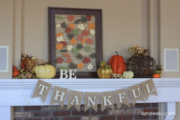 Thanksgiving Mantel decor from Landeelu