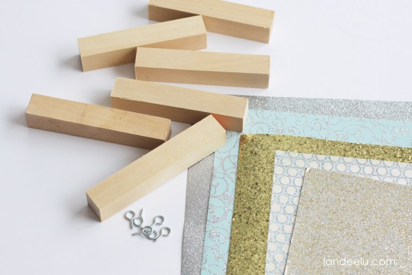 Easy DIY Wood Dowel Ornaments supplies