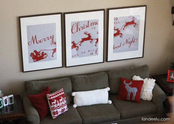 I created these images in four different sizes for you to use how you'd like!  Free Printable 3 Piece Extended Santa Christmas Art | Landeelu