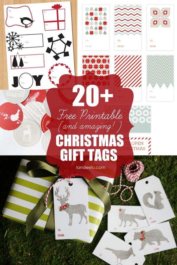 Tons of Free Printable Christmas Tags