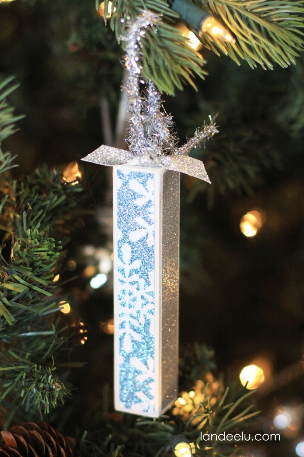 Wood Dowel and Mod Podge Ornaments