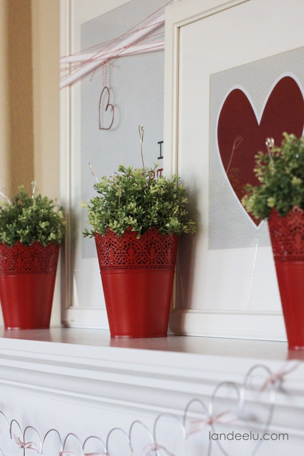 Valentine's Day Mantel Decoration