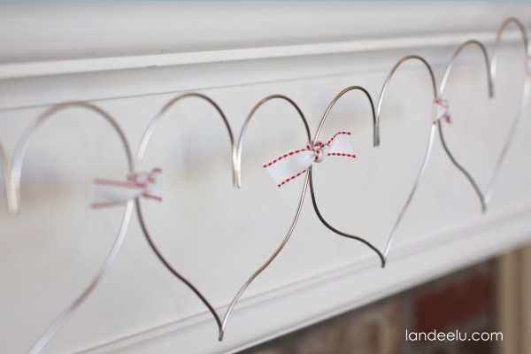 Valentines Day Wire Heart Garland