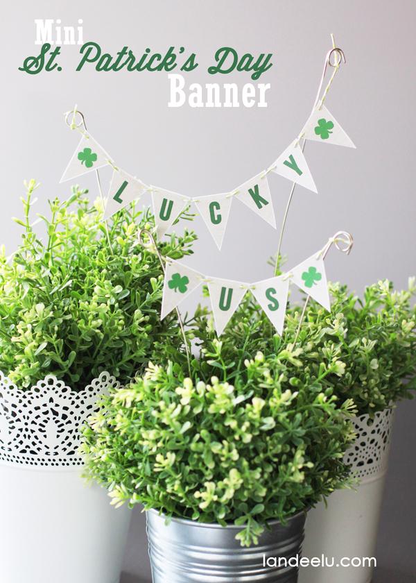 Mini St Patrick's Day banner