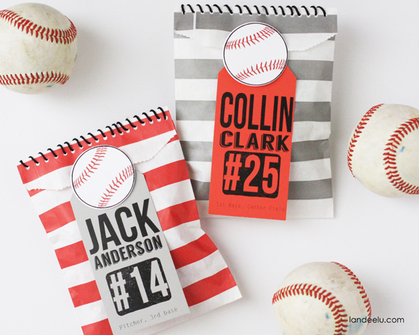 Baseball Goodie Bags Idea with Free Printable