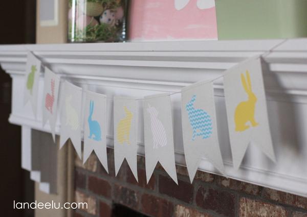 Easter Bunny Banner Printable from Landeelu