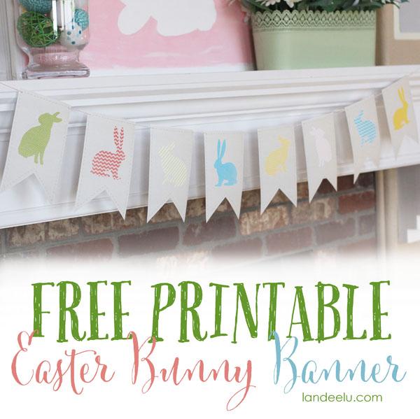 Easter Bunny Banner-free printable