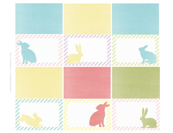 Easter Name Place Cards- free printable from landeelu.com