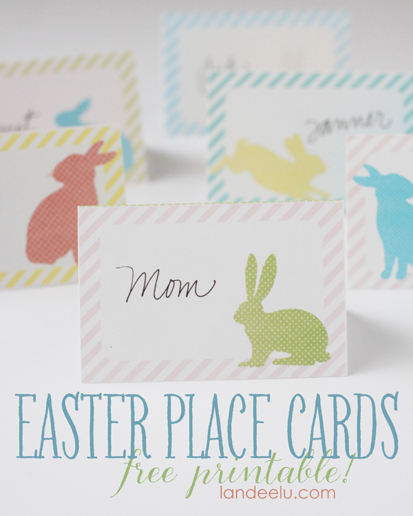 graphic relating to Printable Place Card Paper identify Easter Stage Playing cards cost-free printable! -