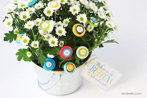 Button Bouquet Craft Idea