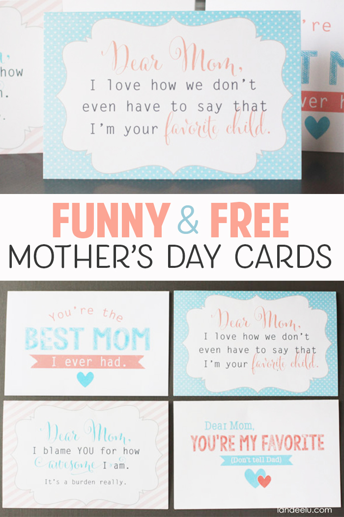 image regarding Free Printable Funny Mothers Day Cards named Free of charge printable moms working day playing cards