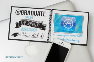 Graduation Gift Idea: Gift Card Printable from landeelu.com-- easy and cute way to send a gift card.