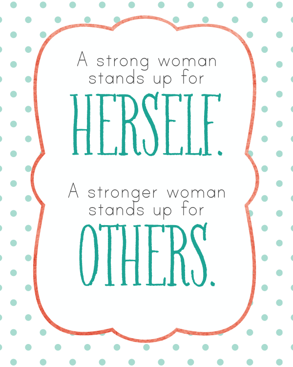 A Strong Woman-- printable quote from landeelu.com