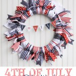 Patriotic Ribbon Wreath