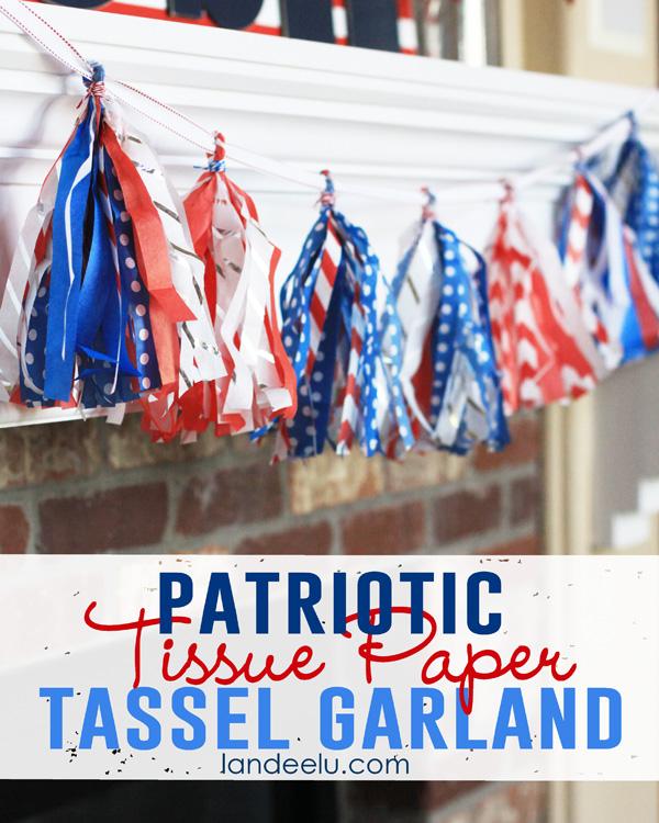 4th of July Tissue Paper Tassel Garland