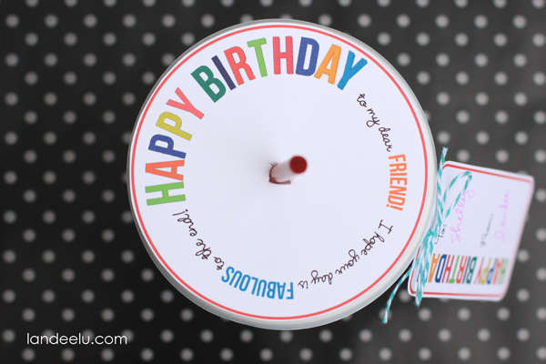 Fun Birthday Gift Idea... Print the tag and topper and grab your friend a drink for their birthday!
