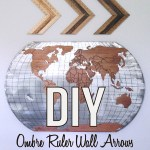 Wall Decor Idea: Ombre Ruler Wall Arrows