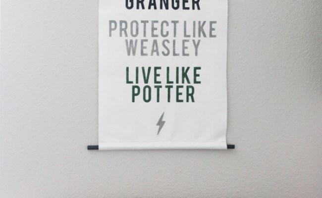 Diy Harry Potter Wall Art Landeelu