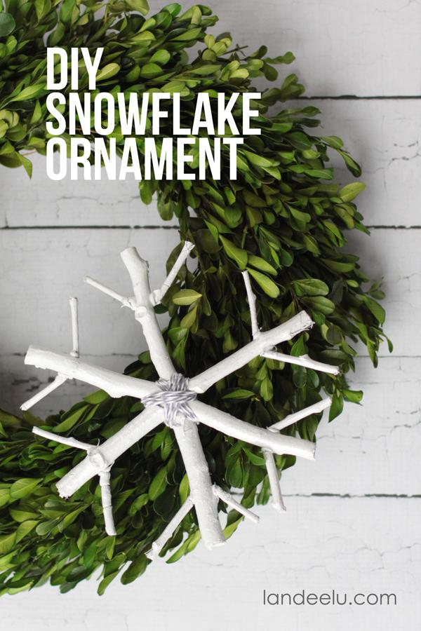 DIY Snowflake Ornament... practically free!  So cute!   From landeelu.com