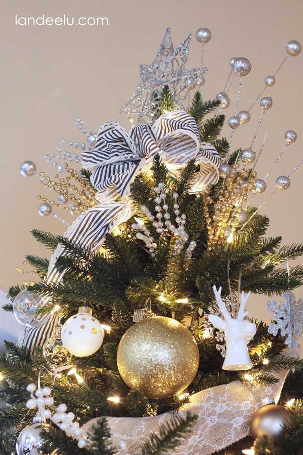 Metallic Neutrals Christmas Tree | landeelu.com