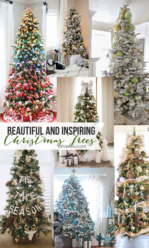 Inspiring Christmas Trees that are sure to spark your creativity!  | landeelu.com
