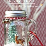 Mini Mason Jar Snow Globe Ornament by Left on Peninsula Road for landee.com