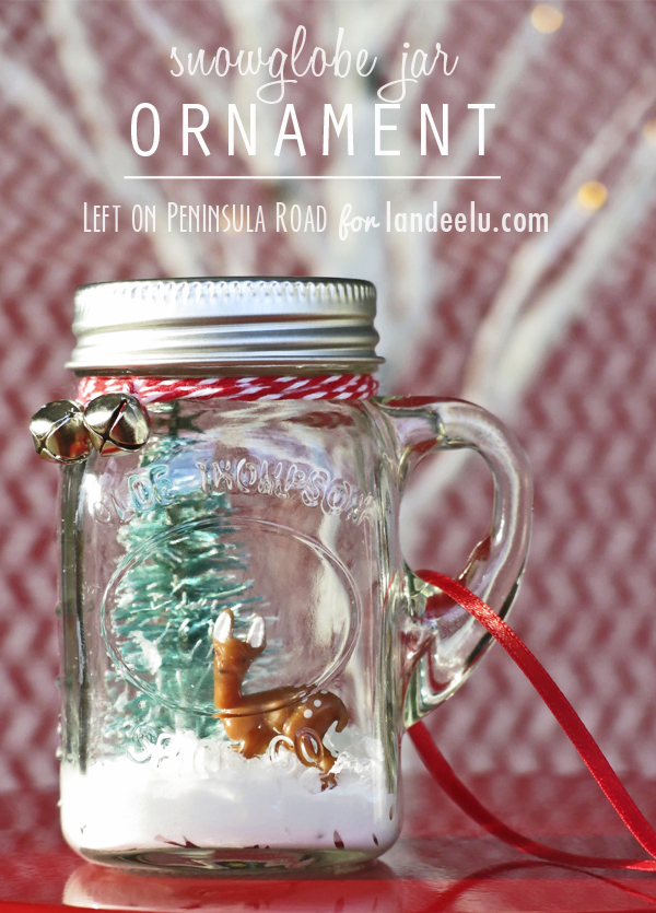 Mini Mason Jar Snow Globe Ornament by Left on Peninsula Road for landed.com