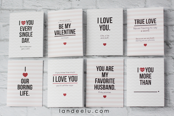 image regarding Printable Valentine Cards for Husband referred to as Humorous Printable Valentines Working day Playing cards