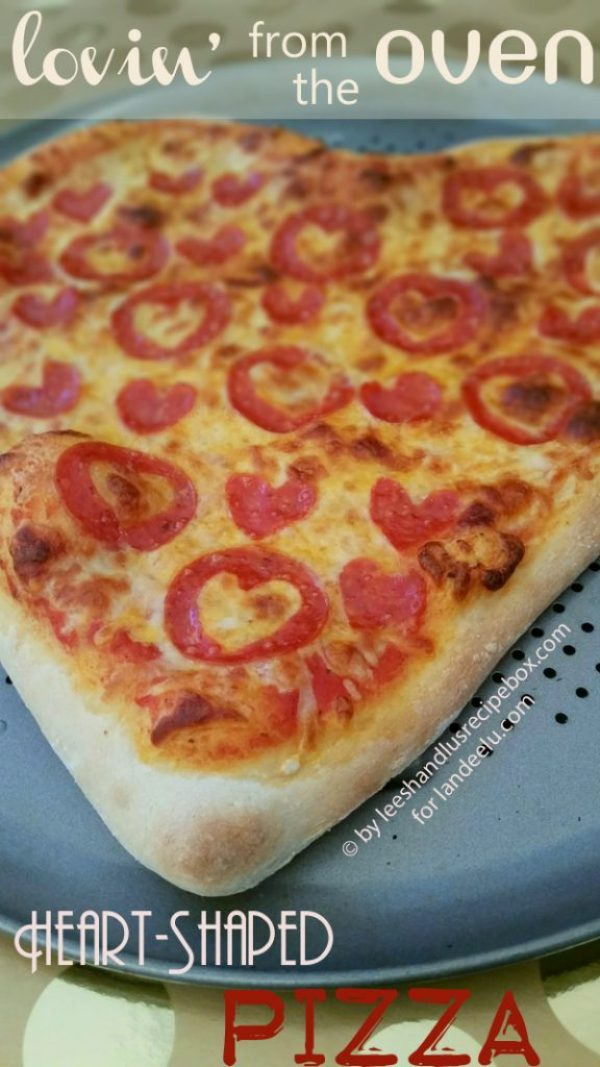 Heart Shaped Pizza Recipe and Tutorial via Landeelu - lovin' from the oven - perfect for Valentine's Day or any time!
