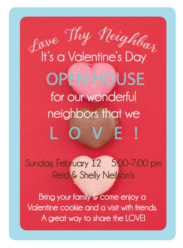 Valentine Party Idea: Love Thy Neighbor!    landeelu.com