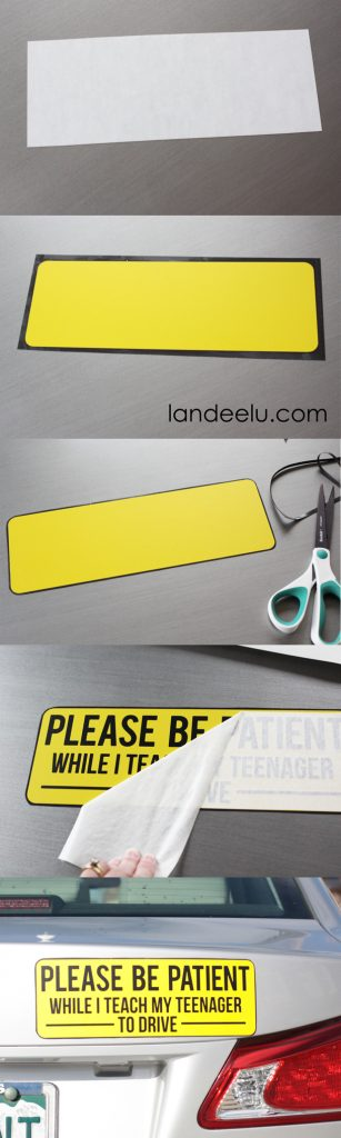 Magnetic Car Signs for Teen Drivers | landeelu.com Let other drivers on the road know that your teenage driver is still learning! I think these will help everyone be a lot safer.