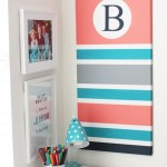 DIY Monogram Bulletin Board