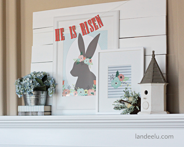 He Is Risen Easter Mantel | landeelu.com
