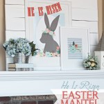 Easter Mantel: He Is Risen