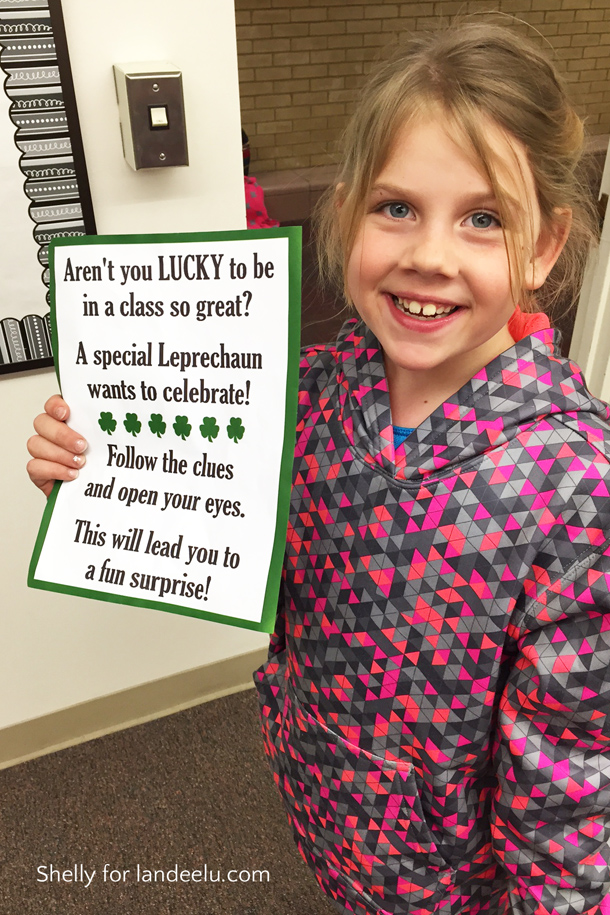 St. Patrick's Day Classroom Treasure Hunt Idea! | landeelu.com