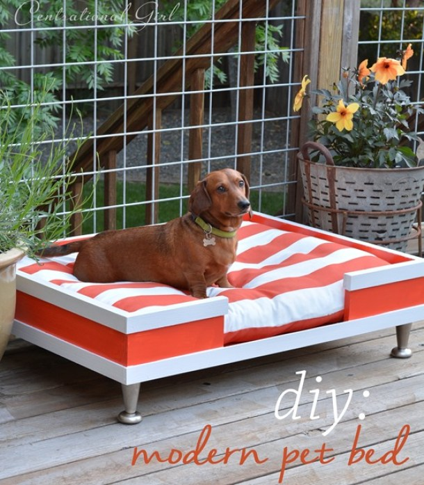 15+ Creative DIY Dog Beds | landeelu.com  So many cute ideas to make a fun bed for your fur baby!