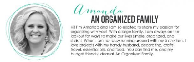 Amanda from An Organized Family