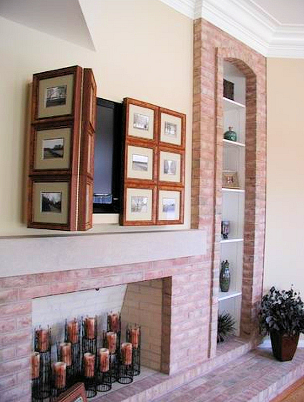 Bifold picture frames TV disguise
