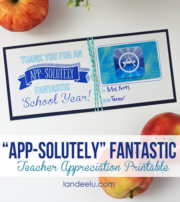 Teacher-Appreciation-App-Store-Gift-Card-Idea Landee See Landee Do