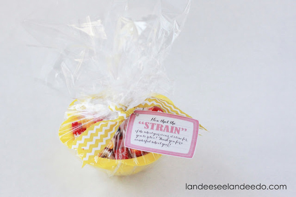 teacher+gift+idea+strainer+ spa gift card Landee See Landee Do
