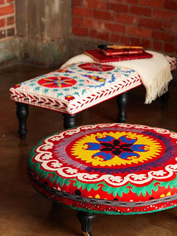 Better Homes and Gardens DIY ottoman dutch fabrics