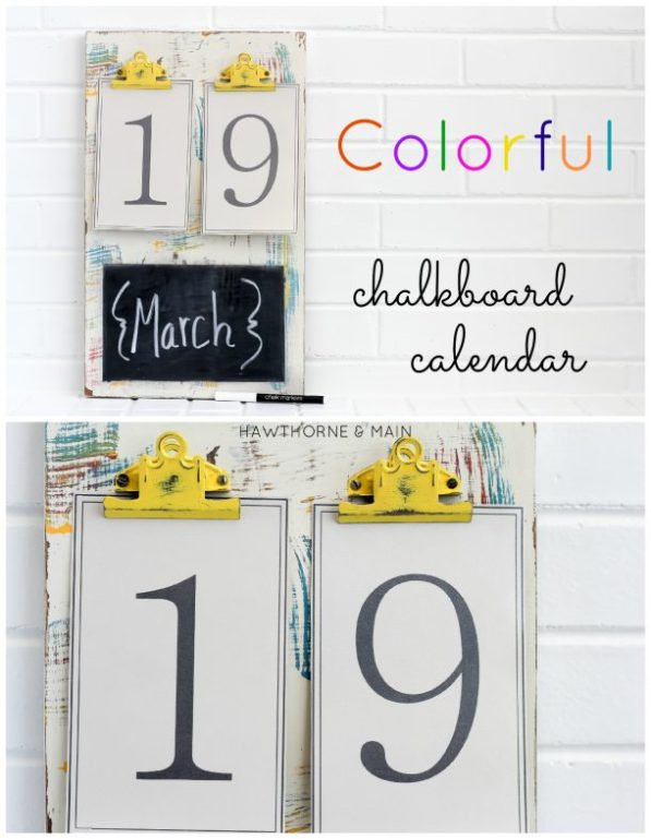 Chalk board with yellow clips TITLE