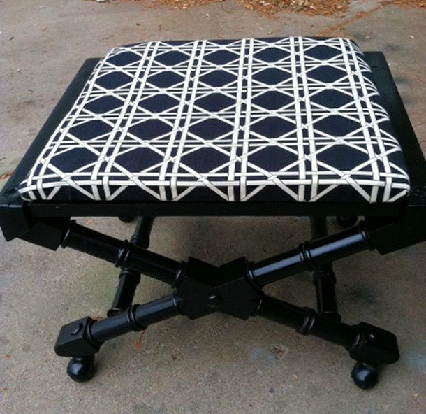 ottoman made from old chairs from larknestdesign