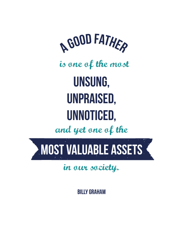 A Good Father Printable | landeelu.com