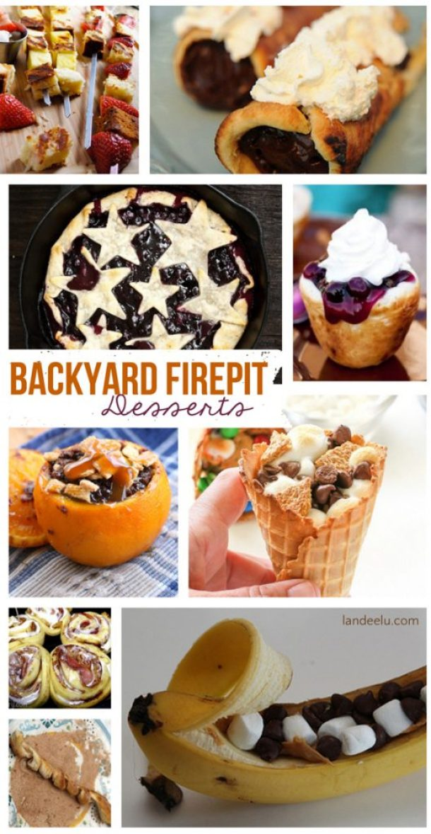 Backyard Firepit Desserts  | landeelu.com  So many fun treats to make in your own backyard!  Put that firepit to good use tonight!
