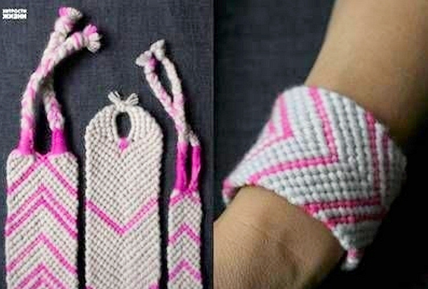 Diy-Baubles-Weave-Bracelet by love this pic