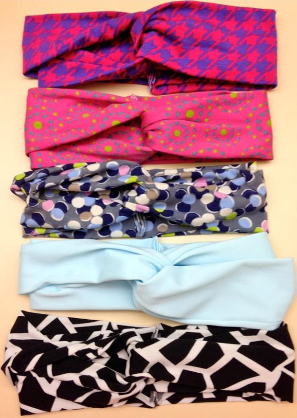 Headbands via kraftie katie multiple fabrics